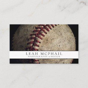 battered baseball business card