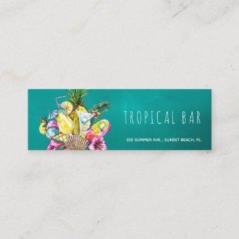 beach bar tropical ocean business cards