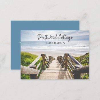 beach house vacation rental business card