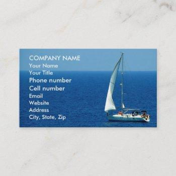 beautiful sailboat business card