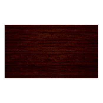 Small Beautiful Wood Grain Stripes - Professional Unique Business Card Back View