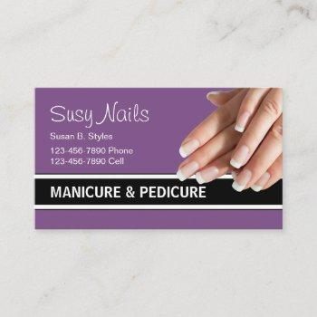 beauty nails manicure design business card