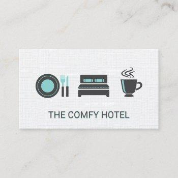 bed and breakfast / linen pattern background business card