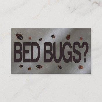 bed bug removal business card