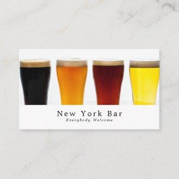 beer & ale display, pub/brewery business card