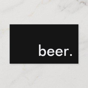 beer. business card