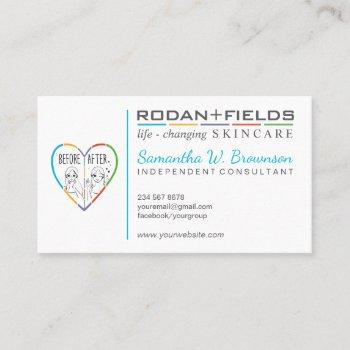 before after dermatology cosmetic business card