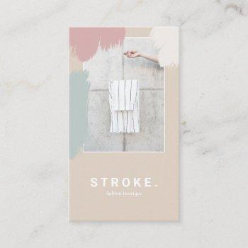 beige brush stroke photo booth frame business card