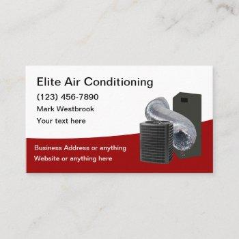 best air conditioning service business cars business card