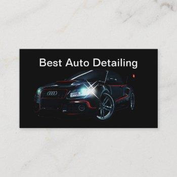 best auto detailing business cards
