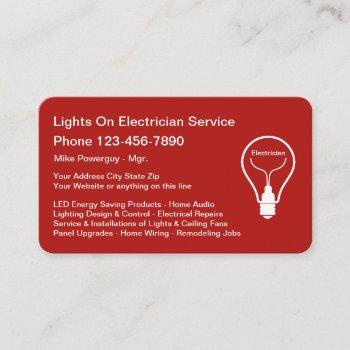 best electrician business card