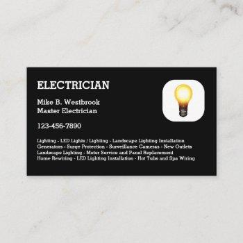 best electrician business cards