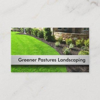 best landscaping theme business card