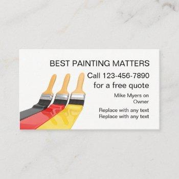 best painter contractor business card