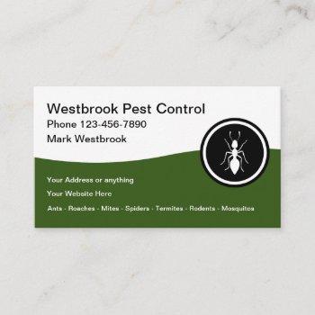 best pest control modern business cards