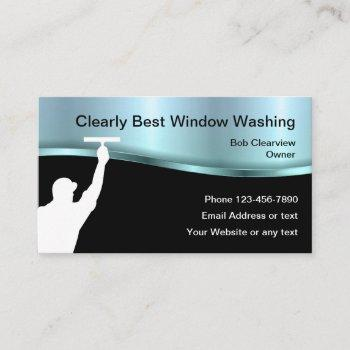 best window washing business card