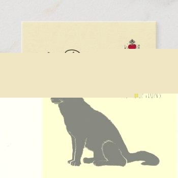 big black dog illustration rescue and adoptions square business card