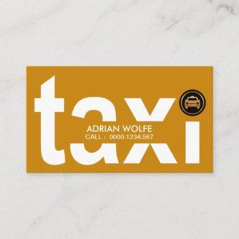 big bold yellow oversize taxi alphabets business card