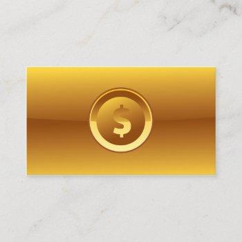big dollar sign accounting gold business card