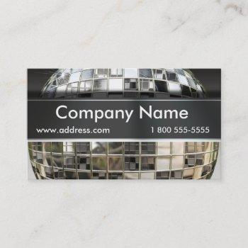 big mirror ball music business cards
