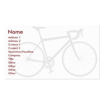Small Bike - Business Business Card Front View