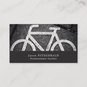 bike symbol, cycling, bicyclist business card