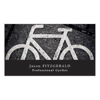 Small Bike Symbol, Cycling, Bicyclist Business Card Front View