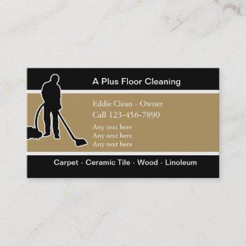 bilingual floor cleaning business cards
