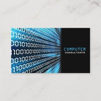 binary code business card