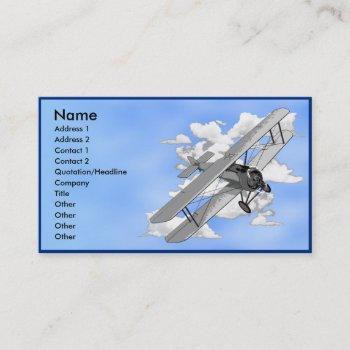 biplane business card template