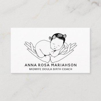 *~* birthing midwife pregnancy doula nanny business card