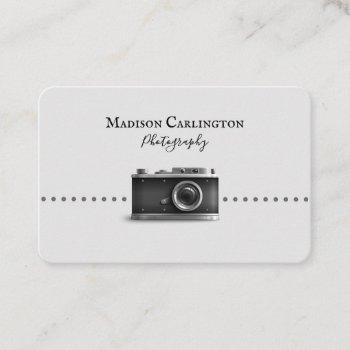 black and white camera photography business card