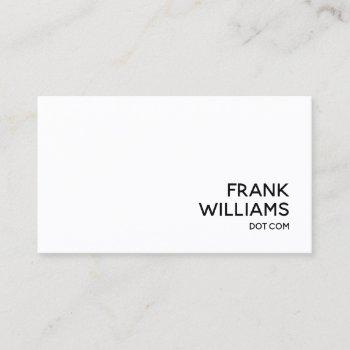 black and white personal website url business card