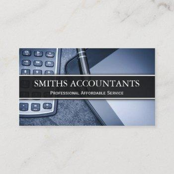 black and white photo accountant - business card
