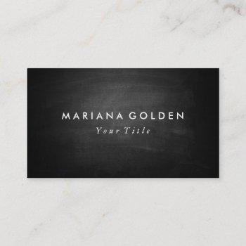 black chalkboard business card