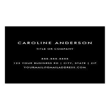 Small Black Custom Logo, Elegant, Square, Professional Square Business Card Back View