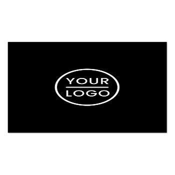 Small Black Custom Logo, Elegant, Square, Professional Square Business Card Front View
