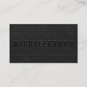 black driver minimalist business card