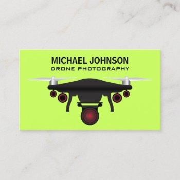black drone | drone camera | drone photography business card