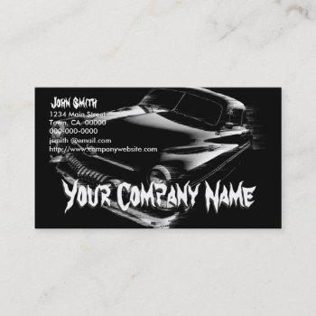 black flash car business card