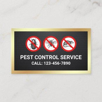 black gold bugs removal pest control service business card