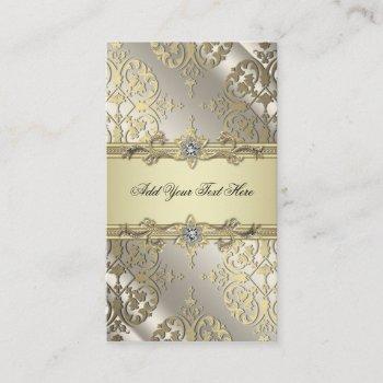 black gold damask business cards
