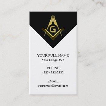 black gold masonic business card templates