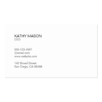 Small Black Lux | Executive Business Card Back View