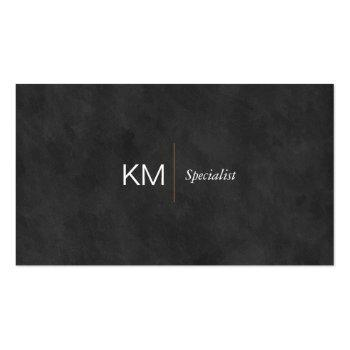 Small Black Lux | Executive Business Card Front View
