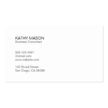 Small Black Lux | Executive | Simple Minimal Business Card Back View