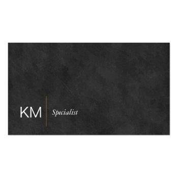 Small Black Lux | Executive | Simple Minimal Business Card Front View