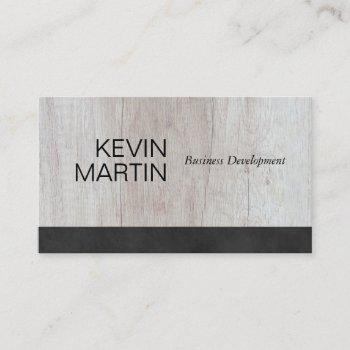 black lux | executive | wood | sales business card