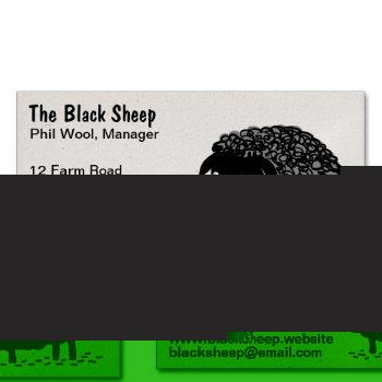 black sheep | cool cartoon sheep business card magnet