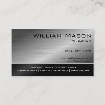 black & steel skilled tradesman business card